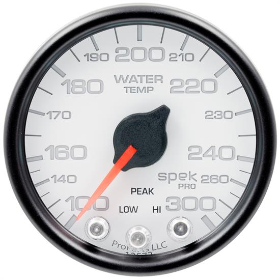 Auto Meter P34612 Spek-Pro Water Temp Gauge, 2-1/16, 100-300 Deg., Domed