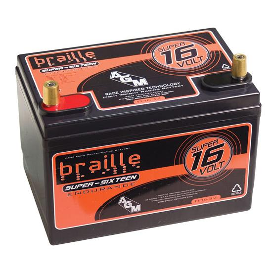 Braille 16 Volt AGM Battery