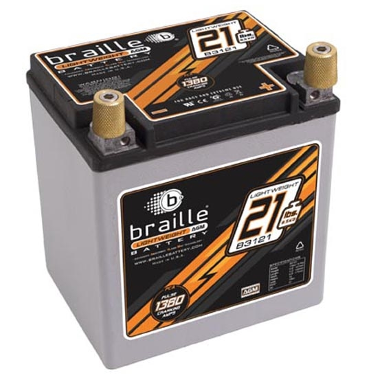 Braille B3121 No-Weight Battery, 550 CCA