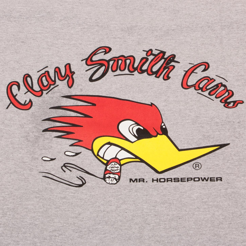 Clay Smith Cams Grey Mr Horsepower T-Shirt