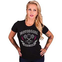 MotorCult Apparel Speed Shop Ladies Tee
