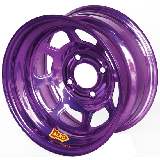 Aero 31-984020PUR 31 Series 13x8 Wheel, Spun, 4 on 4 BP, 2 Inch BS