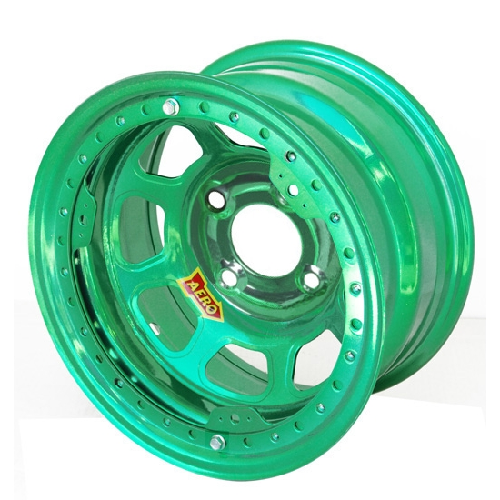 Aero 33-984040GRN 33 Series 13x8 Wheel, Lite, 4 on 4 BP, 4 Inch BS