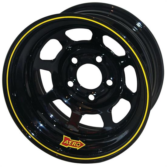 Aero 50-185010S 50 Series 15x8 Wheel, 5 on 5 Inch BP, 1 Inch BS, IMCA