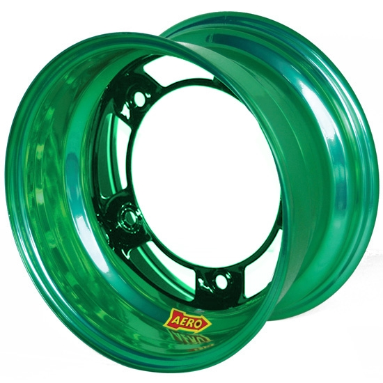 Aero 51-900555GRN 51 Series 15x10 Wheel, Spun, 5 on WIDE 5, 5-1/2 BS