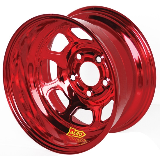 Aero 51-904560RED 51 Series 15x10 Wheel, Spun, 5 on 4-1/2 BP, 6 BS