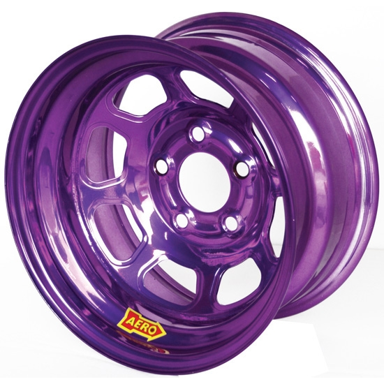 Aero 51-985040PUR 51 Series 15x8 Wheel, Spun, 5 on 5 Inch, 4 Inch BS