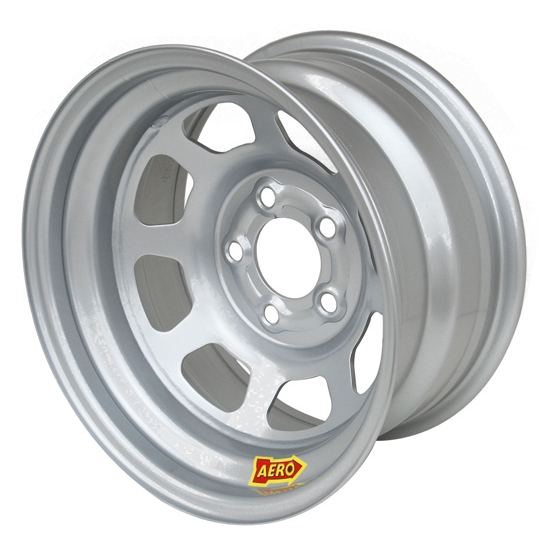 Aero 52-084520W 52 Series 15x8 Wheel, 5 on 4-1/2 BP, 2 Inch BS Wissota