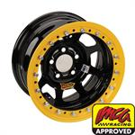 AERO 53 Series IMCA Certified 15 Inch Race Wheel, Beadlock, 5 on 5 Pattern