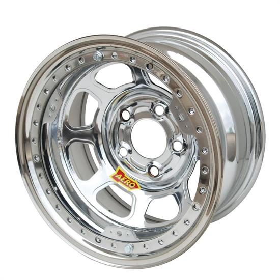 Aero 53-284540W 53 Series 15x8 Wheel, BL 5 on 4-1/2, 4 Inch BS Wissota
