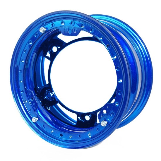 Aero 53-900560BLU 53 Series 15x10 Wheel, BL, 5 on WIDE 5, 6 Inch BS