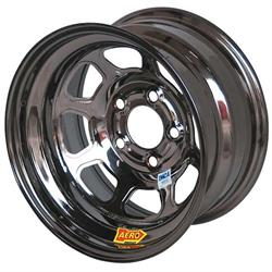 Aero 53-985010BLK 53 Series 15x8 Wheel, BL, 5 on 5 BP, 1 Inch BS IMCA