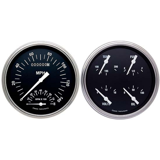 Classic Instruments CT47HR62 Hot Rod Pickup Gauge Sets, 47-53 GM