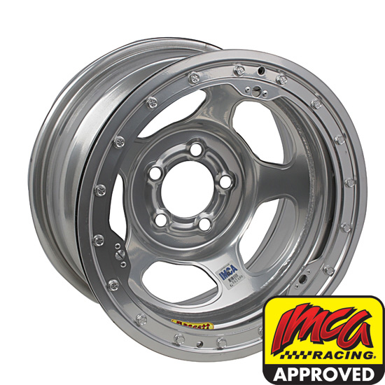 Bassett IMCA Approved 15 Inch Wheel - 15x8, 5 on 4 3/4, Beadlock