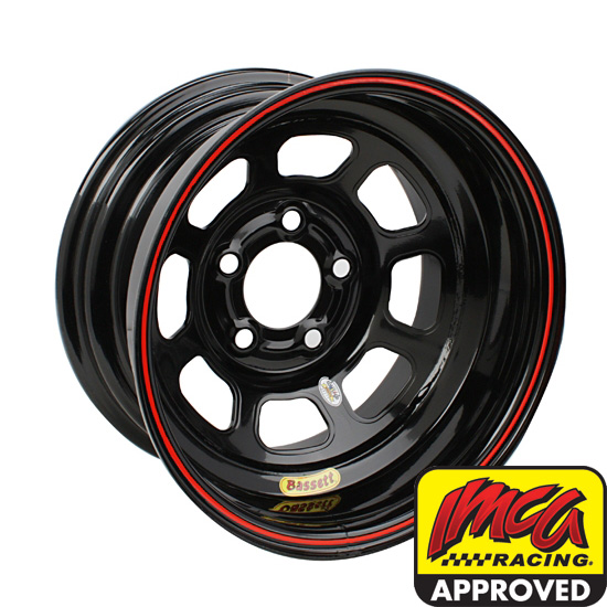 Bassett 58D52WRB Wissota RF 15 Inch Wheel Big Bell Out-5 on 5-Black
