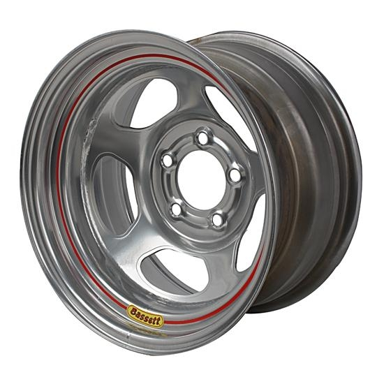 Bassett 50LC4S 15X10 Inertia 5 on 4.75 4 Inch Backspace Silver Wheel