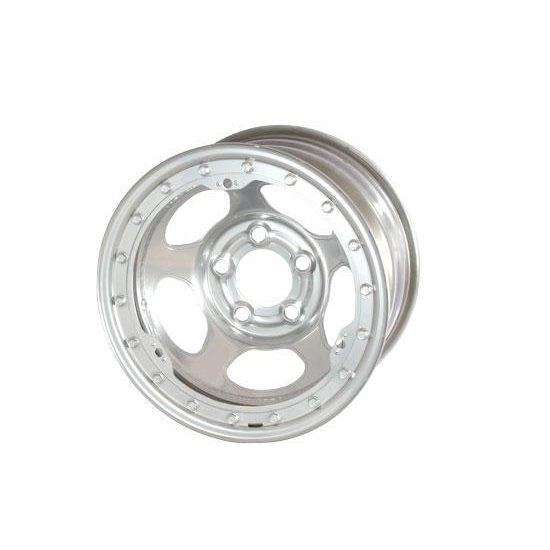 Bassett 50LJ5S 15X10 Inertia 5 on 5.5 5 Inch Backspace Silver Wheel