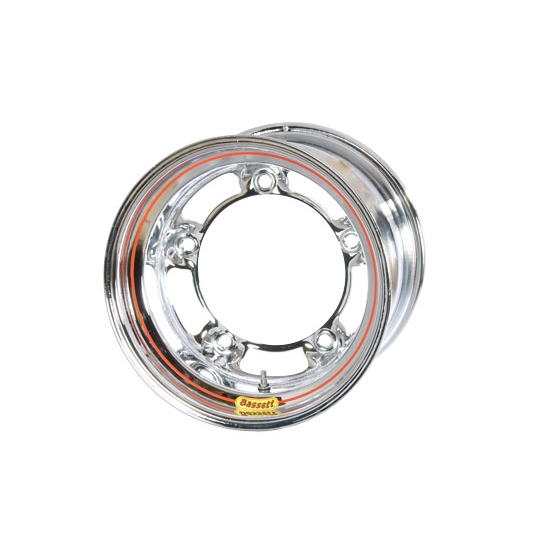Bassett 50SR65C 15X10 Wide-5 6.5 In Backspace Chrome Armor Edge Wheel