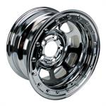 Bassett Wissota Certified 15 Inch Wheel, Beadlock, 15x8, 5 on 5, Chrome