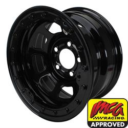 Bassett Wissota Certified 15 Inch Wheel, Beadlock, 15x8, 5 on 5, Black