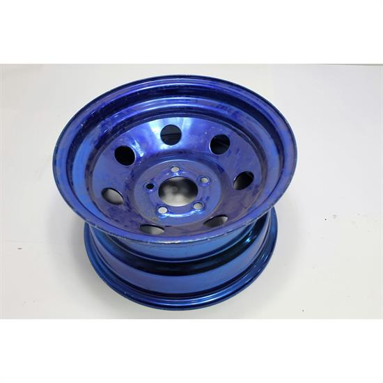 Garage Sale - Cool Man Chromodized Blue Steel Wheels, 15x8, 5 on 4.5 Bolt Pattern