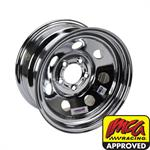 Speedway 15 x 8 IMCA Chrome Wheel 2 BS, Non-Beadlock, 5 on 4-1/2
