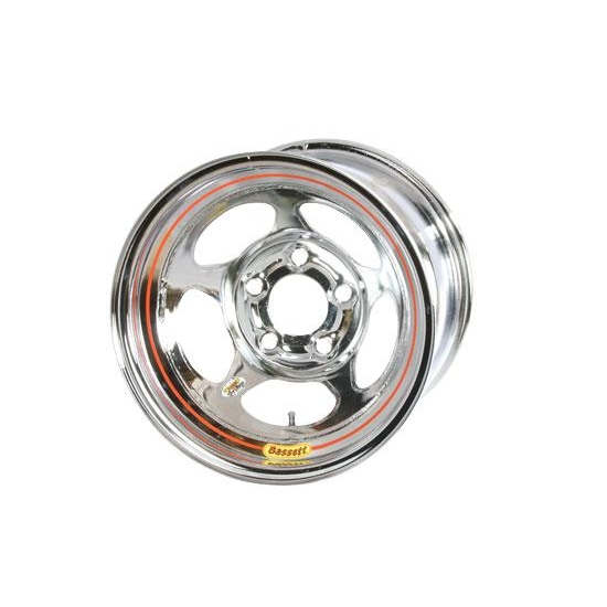 Bassett 58A54WC 15X8 Inertia 5on5 4 In Backspace Wissota Chrome Wheel