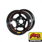 Bassett 58AC2I 15X8 Inertia 5 on 4.75 2 In Backspace IMCA Black Wheel
