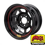 Bassett 58AF4I 15X8 Inertia 5 on 4.5 4 Inch Backspace IMCA Black Wheel