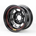 Bassett 58DC1W 15X8 D-Hole 5on4.75 1 In Backspace Wissota Black Wheel