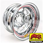 Bassett 58DC3WC 15X8 DHole 5on4.75 3 In Backspace Wissota Chrome Wheel