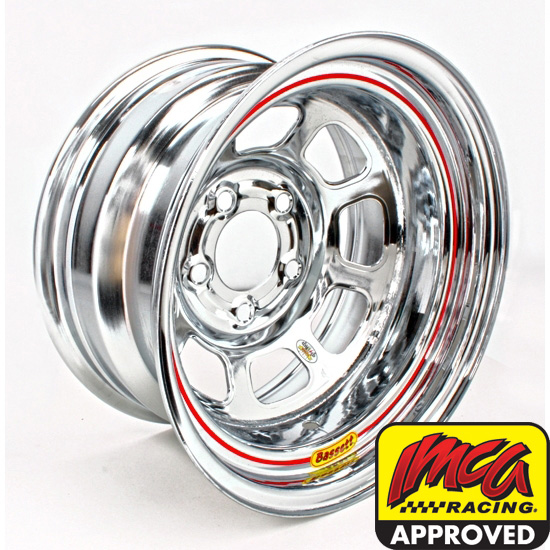 Bassett 58DF4WC 15X8 D-Hole 5on4.5 4 In Backspace Wissota Chrome Wheel