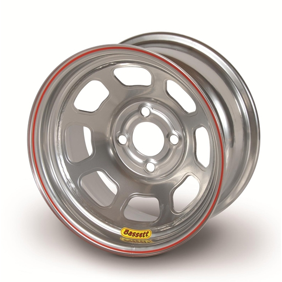 Bassett 58DH2S 15X8 D-Hole 4 on 100mm 2' Silver Wheel