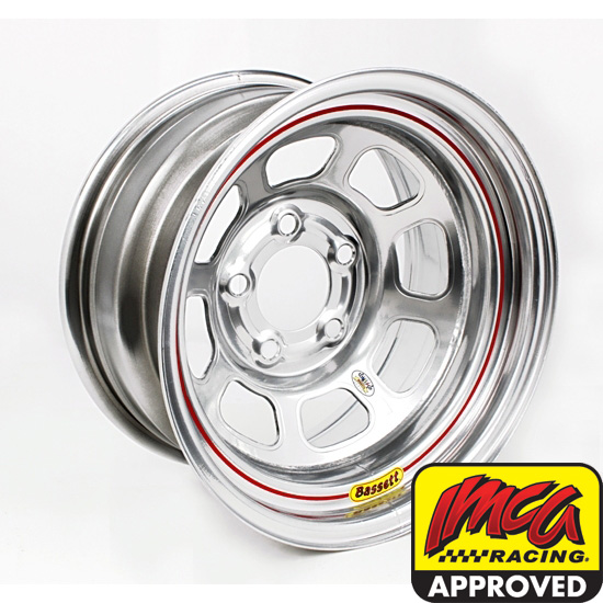 Bassett 958WF475 15X8 Excel D-Hole 5on4.5 4.75 BS Wissota Silver Wheel