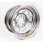 Bassett 958WF4 15X8 Excel D-Hole 5on4.5 4 Inch BS Wissota Silver Wheel
