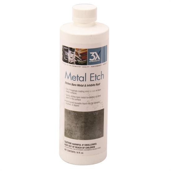 3X Chemistry 46813 Metal Etch and Rust Inhibitor, 16oz Bottle