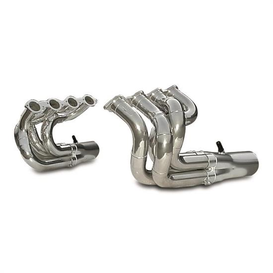 Dynatech® Big Block Chevy Strut Type Dragster Headers Coated, 2-1/2 Inch