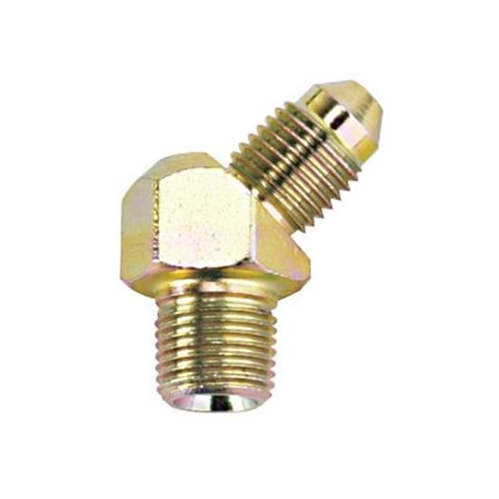 Steel 45 Degree -4 AN to 1/8 NPT Male Adapter Fitting