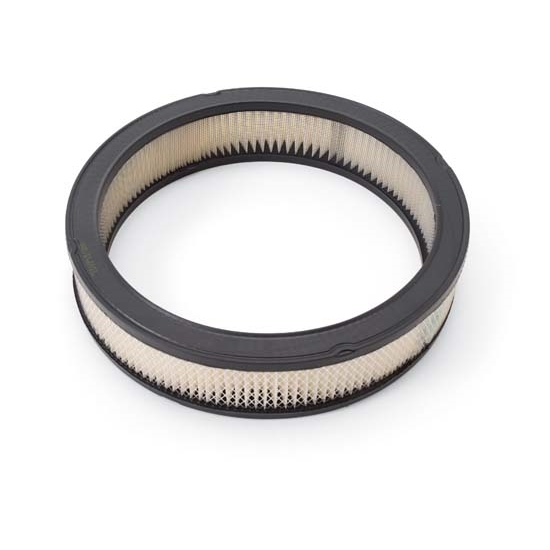 Edelbrock 1217 Air Cleaner Element Air Filter, Round, 3in. X 14in.