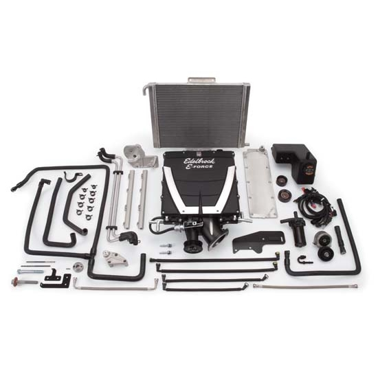 Edelbrock 1599 E-Force Chevy Competition Supercharger System Kit, 6.2L
