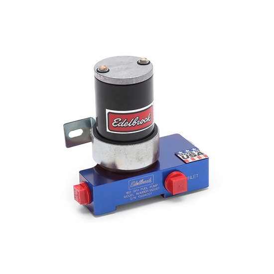 Edelbrock 182062 Quiet-Flo Electric Fuel Pump, Carbureted,160 GPH,Blue