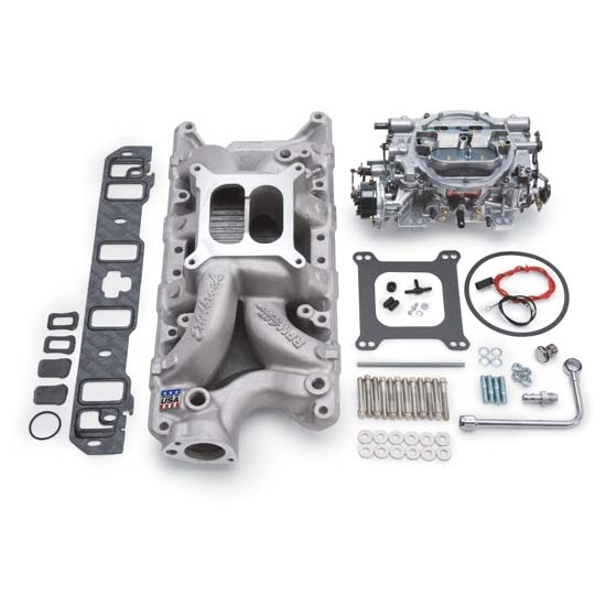 Edelbrock 2033 Single-Quad Intake Manifold/Carburetor Kit