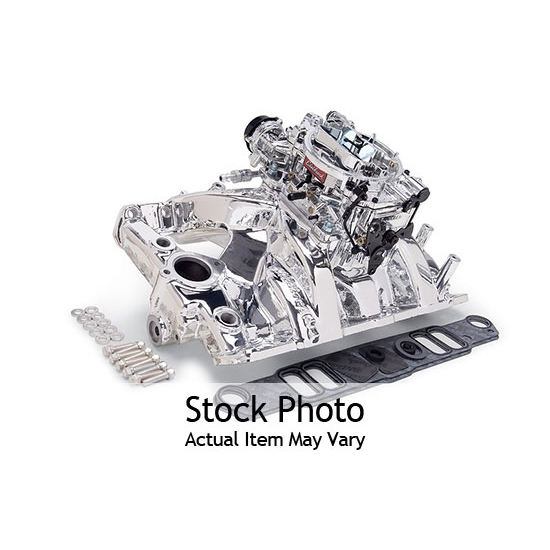 Edelbrock 2056 Single-Quad Intake Manifold/Carburetor Kit