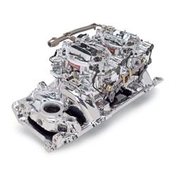 Edelbrock 20654 RPM Air-Gap Dual-Quad Intake Manifold/Carburetor Kit