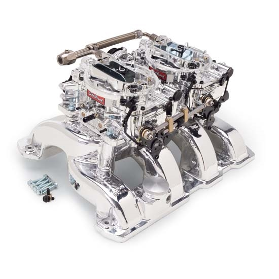Edelbrock 20764 RPM Air-Gap Dual-Quad Intake Manifold/Carburetor Kit