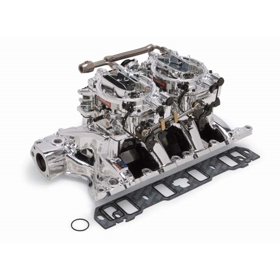 Edelbrock 20854 RPM Air-Gap Dual-Quad Intake Manifold/Carburetor Kit