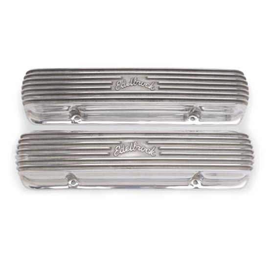 Garage Sale - Edelbrock 4131 Small Block Chevy Aluminum Valve Covers