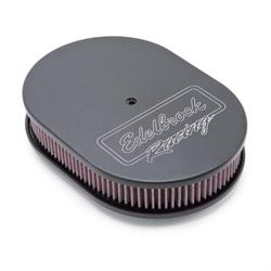Edelbrock 42203 Victor Series Air Cleaner Assembly, Oval, 2.5 Inch