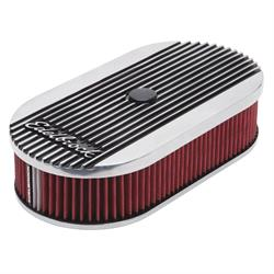 Edelbrock 4273 Elite II Air Cleaner, Oval, Single Carb