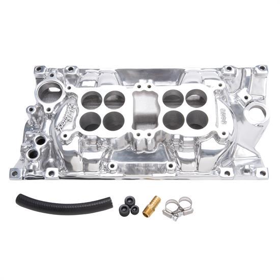 Edelbrock 54261 C-26 Dual-Quad Intake Manifold, Chevy